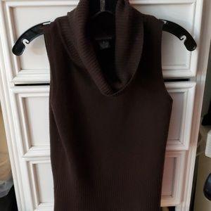 Cowl neck sleeveless top